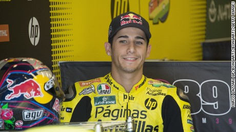 Luis Salom died after losing control of his bike at the Catalunya MotoGP