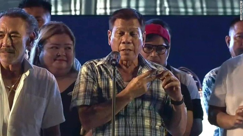 Philippines president-elect Duterte hosts victory party