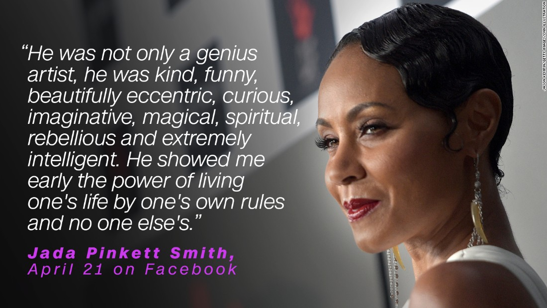 The singer inspired actress Jada Pinkett Smith to play by her own rules.