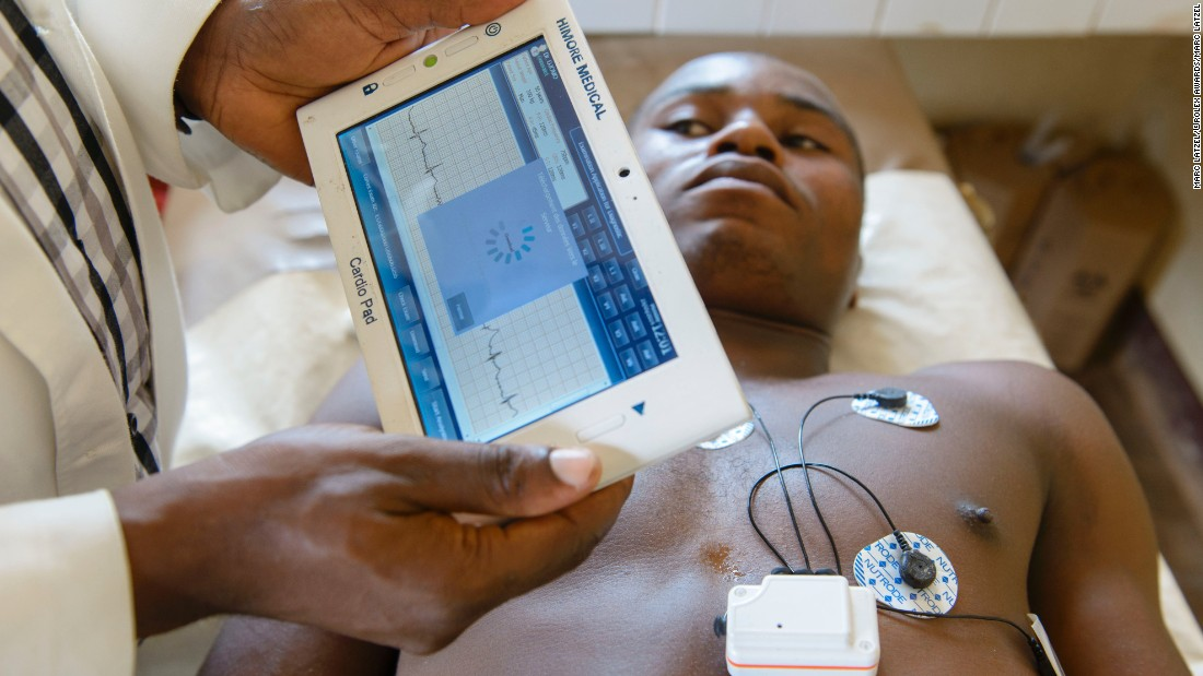 "Cameroonian entrepreneur, Arthur Zang, has invented a touch-screen heart monitoring device that records, and then sends heart activity to a national healthcare center for evaluation. It could have hugely positive potential for rural populations far from hospitals. <br /><a href=""http://edition.cnn.com/2016/06/06/africa/arthur-zang---cardio-pad-cameroon/index.html"" target=""_blank""><br />Read more</a> about this device."