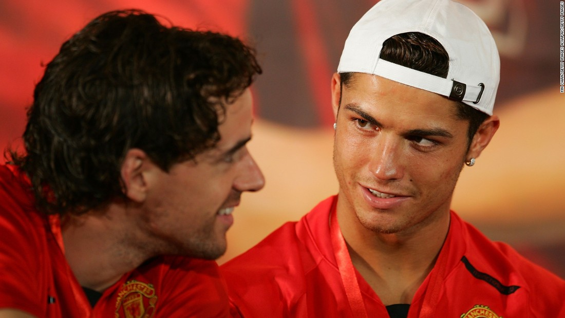 Former Manchester United and Bayern Munich star Owen Hargreaves (left) says British footballers need a platform in the country, but isn't sure restricting foreign players is the answer. Former United teammate Cristiano Ronaldo (right) may not have been allowed to play in the UK had visa restrictions been in place at the time of his signing at the age 18.