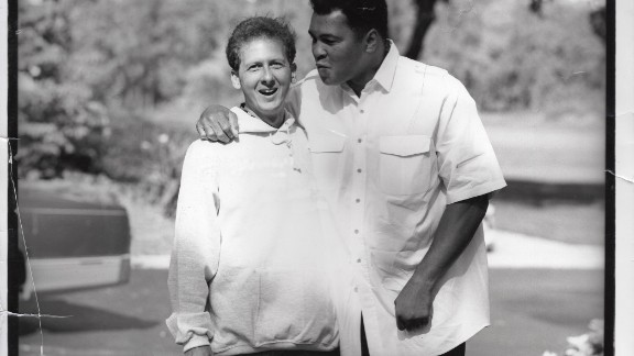 Muhammad Ali with the biographer Davis Miller, a longtime friend.