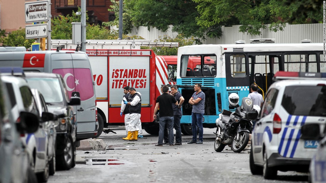 Local media reported that the blast was remotely detonated as the bus passed by with a group of riot police on board.