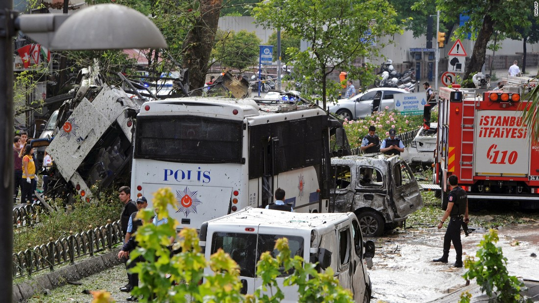 No one immediately claimed responsibility for the bombing. Turkey has been rocked by a string of terror attacks over the past year.