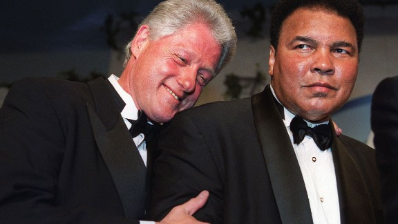 "Former President Bill Clinton will eulogize Muhammad Ali at a memorial service Friday, June 10, in Louisville, Kentucky. Clinton, here with Ali at 2000 gala, awarded the boxing great the Presidential Citizens Medal in 2001. He said he went on ""to forge a friendship with a man who, through triumph and trials, became even greater than his legend."""