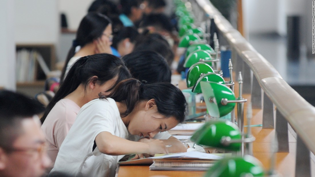 college entrance exam in china Students attend college entrance exam, or gaokao, at a middle school in shenyang, capital of northeast china's liaoning province [photo/xinhua.