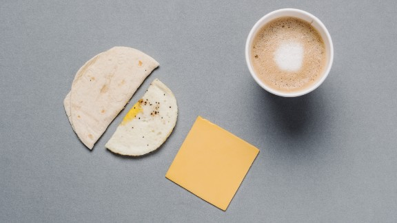 For those counting calories on the Dunkin' Donuts menu, the egg and cheese Wake-Up Wrap has only 150 of them. Adding a latte with skim milk doubles the protein and more than triples your calcium intake.