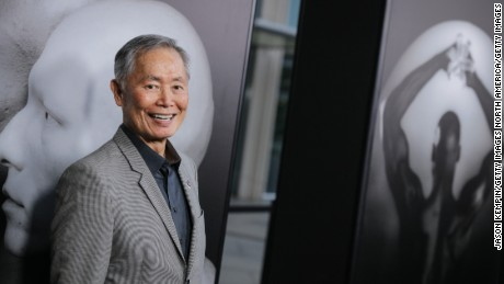 "LOS ANGELES, CA - MARCH 15:  Actor George Takei attends the premiere of HBO Documentary Films' ""Mapplethorpe: Look At The Pictures"" on March 15, 2016 in Los Angeles, California.  (Photo by Jason Kempin/Getty Images)"