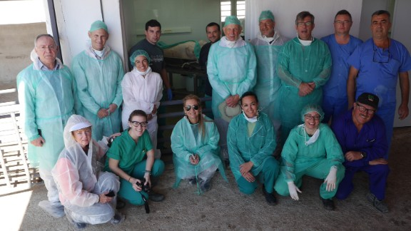 Researchers at Agropor field laboratory in Spain are collaborating with some American universities in chimera research.