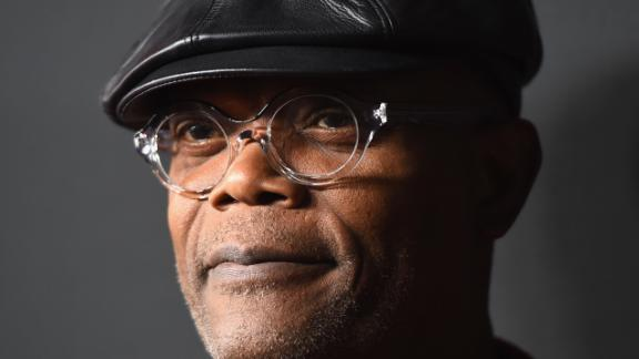 """HOLLYWOOD, CA - DECEMBER 07:  Actor Samuel L. Jackson attends the Premiere of The Weinstein Company's """"The Hateful Eight"""" at ArcLight Cinemas Cinerama Dome on December 7, 2015 in Hollywood, California.  (Photo by Jason Merritt/Getty Images)"""