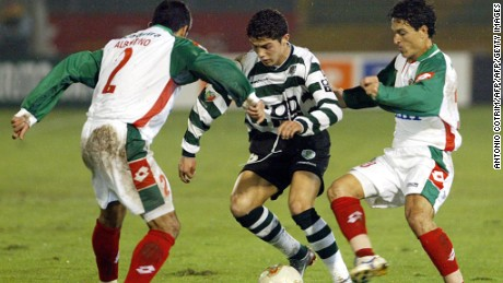 Ronaldo made his Sporting debut at the age of 17.