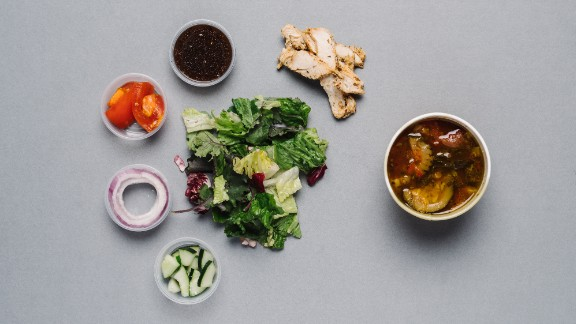 For those counting calories, Panera Bread's seasonal salad with chicken (half) and low-fat vegetarian garden vegetable soup with pesto (1 cup) go a long way toward keeping you full.