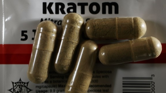 MIAMI, FL - MAY 10:  In this photo illustration, capsules of the drug Kratom are seen on May 10, 2016 in Miami, Florida. The herbal supplement is a psychoactive drug derived from the leaves of the kratom plant and it