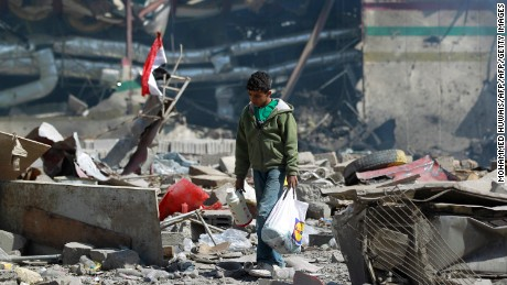 A Saudi-led coalition carried out a widespread bombing campaign of Yemen in 2015.