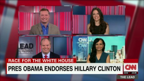obama endorses clinton politics presidential race election 2016 panel the lead_00054312