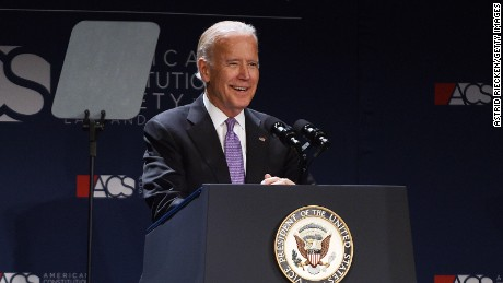 Vice President Joseph Biden addresses the American Constitution Society 2016 National Convention on June 9, 2016 in Washington, DC.