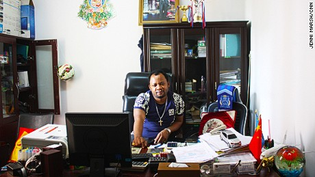 Felly Mwamba, head of the Congolese community in Guangzhou
