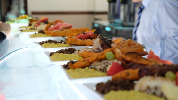Meals are prepared ahead of the dinner rush at the Shaad restaurant.