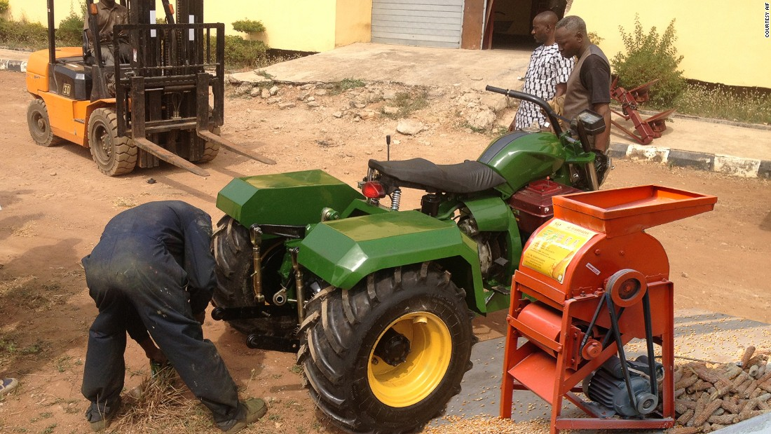 Part, tractor, part motorcycle, the Tryctor was created by Olufemi Odeleye from Nigeria, with the aim to provide an affordable mini-tractor for small-scale farmers -- who can be constrained by the costs of implementing modern agricultural techniques, according to AIF.<br /><br />Modeled on the motorcycle, and with 60% of parts locally sourced, the Tryctor is easy to use and cheaper than a conventional tractor.