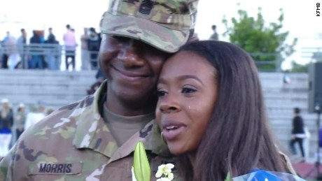 solider surprises daughter graduation dnt  _00013227