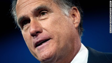 Former US Republican presidential candidate Mitt Romney speaks at the Conservative Political Action Conference (CPAC) in National Harbor, Maryland, on March 15, 2013.