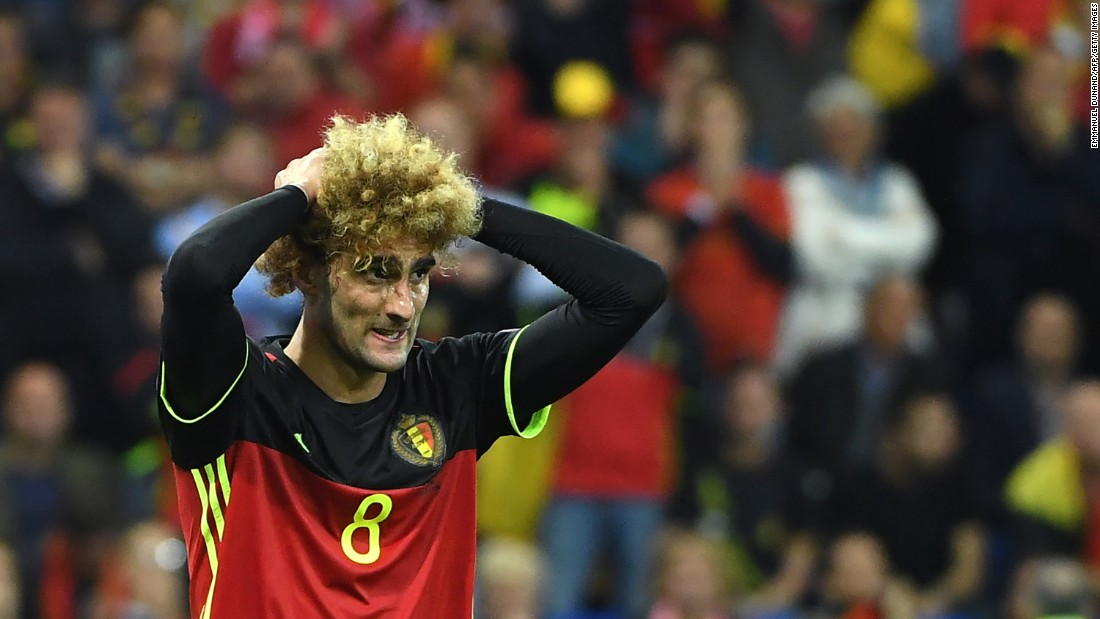 It was a frustrating evening for Marouane Fellaini and the Belgium team.