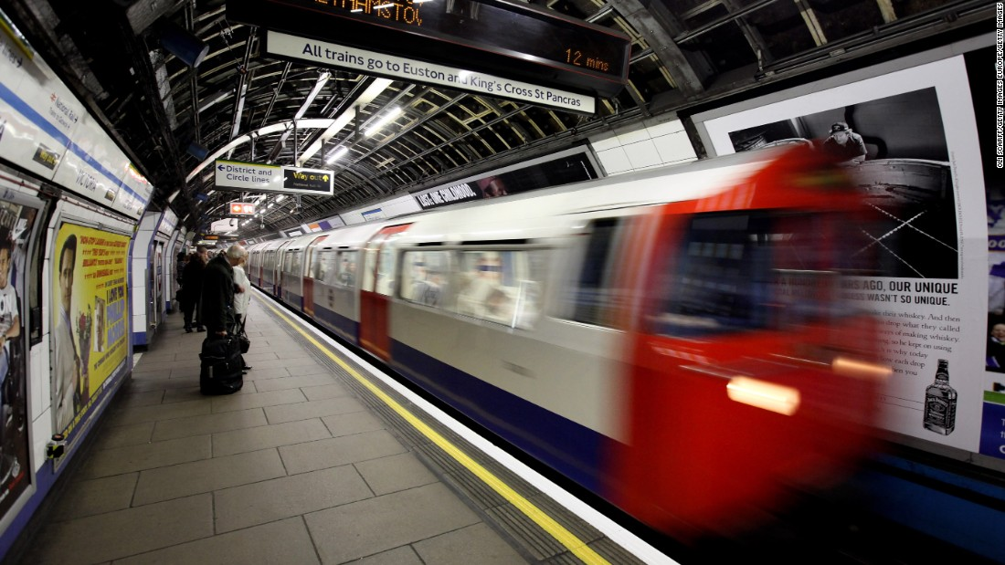 LONDON, ENGLAND - A London Underground train arrives in Victoria station on March 30, 2010 in London, England. (Photo by Oli Scarff/Getty Images)