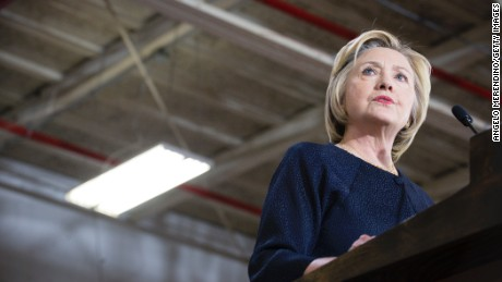 Clinton hits Trump for pushing 'conspiracy theories'