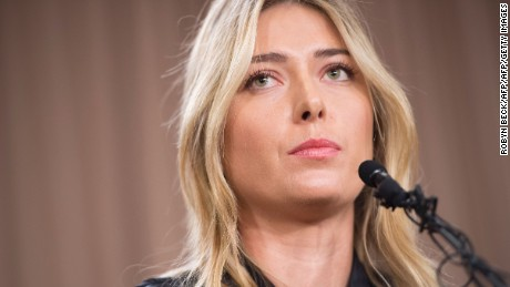 Sharapova shocked the tennis world when she announced in March she had failed a doping test at the Australian Open. She had  tested positive for meldonium, a substance she said she had been taking since 2006 but failed to notice had been added to the banned list this year.