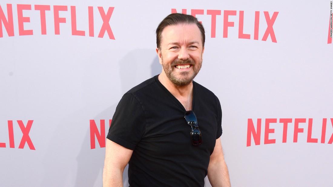 Ricky Gervais auf Globen Witze Ziel