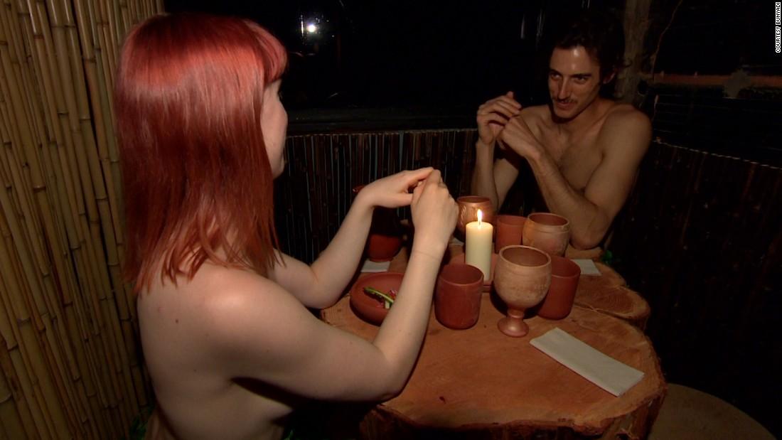 A Women nude restaurant in