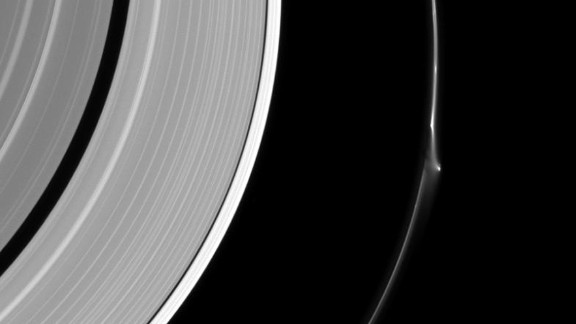A bright disruption in Saturn