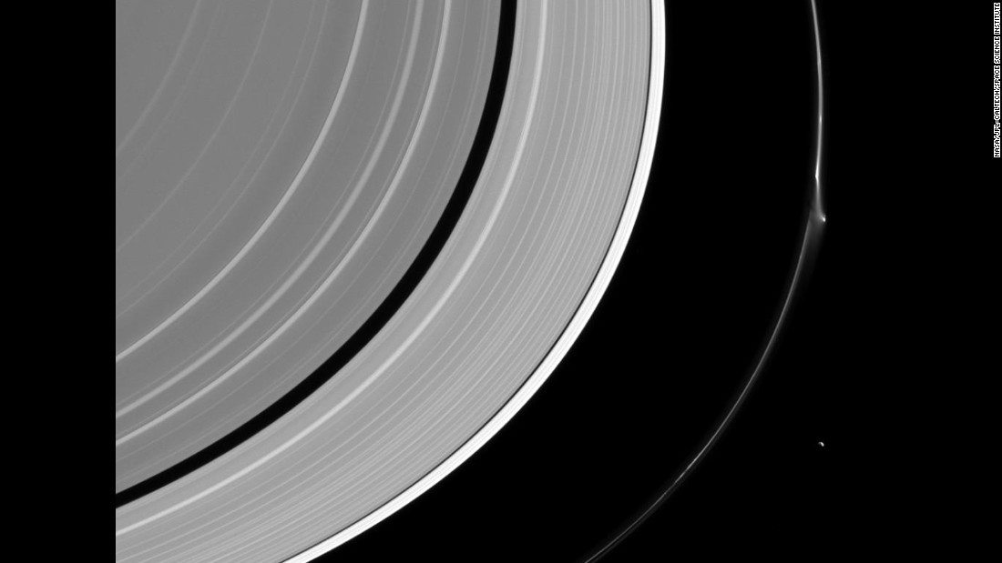 What happened to one of Saturn's rings?
