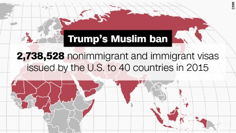 The massive implications of Trump's Muslim travel ban in 5 maps