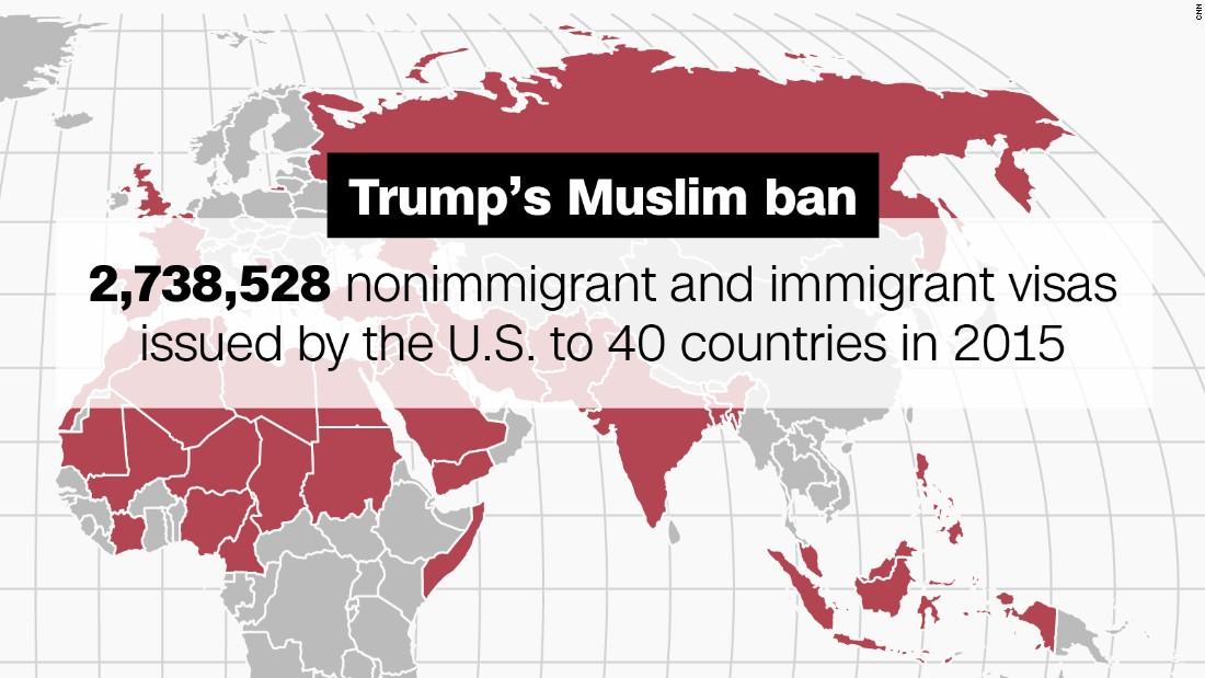 Donald Trump\'s Muslim ban\'s implications in 5 maps - CNNPolitics