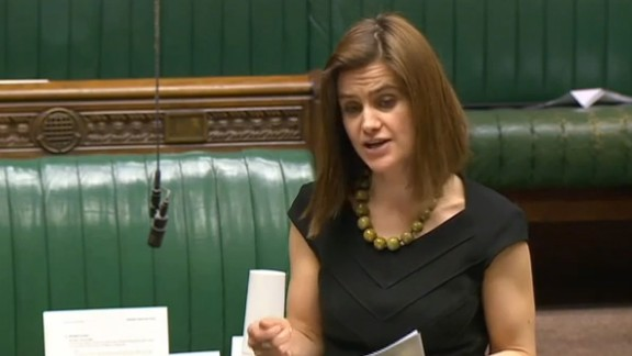 """A video grab taken from footage broadcast by the UK parliamentary recording unit (PRU) on June 16, 2016 Labour party member of parliament Jo Cox speaks during a session in the House of Commons in central London on March 21, 2016. British lawmaker Jo Cox has been shot and injured in her constituency in northern England, media reported on June 16. Jo Cox, 41, a mother of two, was left bleeding on the pavement after the incident in Birstall in Yorkshire, the Press Association cited an eyewitness as saying.  / AFP PHOTO / PRU / PRU / RESTRICTED TO EDITORIAL USE - MANDATORY CREDIT """" AFP PHOTO / PRU """" - NO MARKETING NO ADVERTISING CAMPAIGNS - NO RESALE - NO DISTRIBUTION TO THIRD PARTIES - 24 HOURS USE - NO ARCHIVES PRU/AFP/Getty Images"""