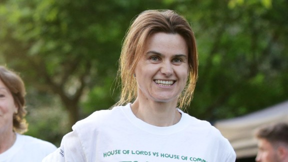 Jo Cox participated in a Parliamentary tug of war contest for charity this month.