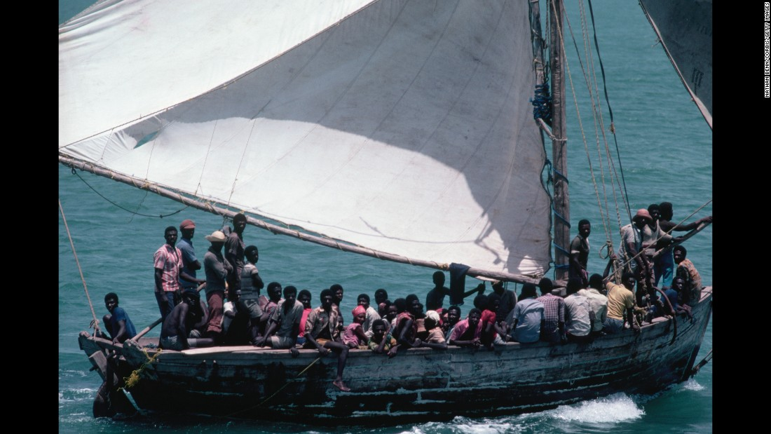 "Large-scale Haitian migration to the United States began under the dictatorship of Jean-Claude ""Baby Doc"" Duvalier. They arrived in crowded boats, but unlike the Cubans they were refused asylum. Washington decided they were not political refugees but economic migrants."