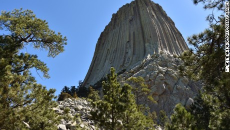 Devils Tower in Wyoming was established as the country's first national monument in 1906.