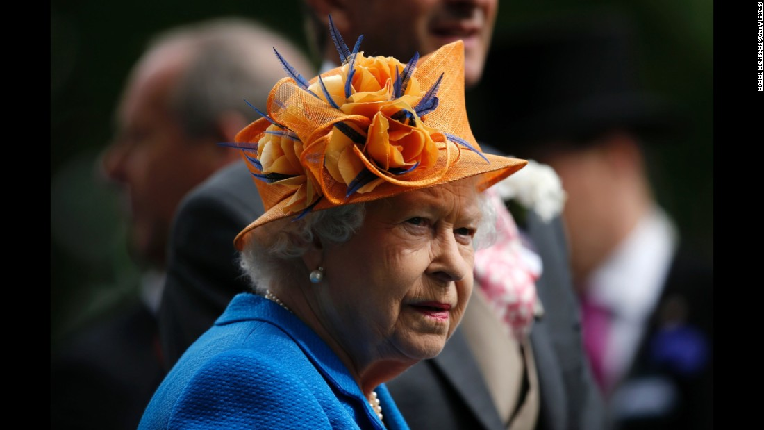 Britain's Queen Elizabeth II looks on during the presentation ceremony for the Gold Cup.