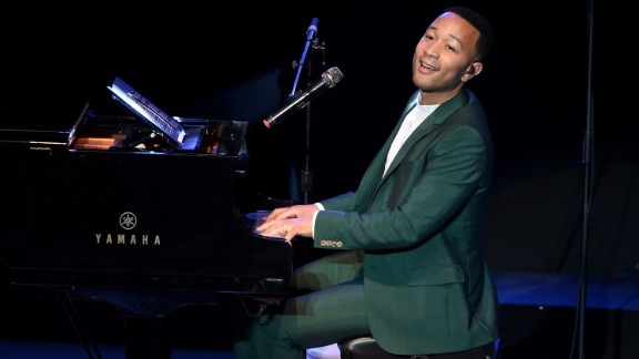 "Musician John Legend performs onstage during the ""Hillary Clinton: She's With Us"" concert in June at The Greek Theatre in Los Angeles."