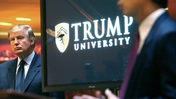 "Trump attends a news conference in 2005 that announced the establishment of Trump University. From 2005 until it closed in 2010, Trump University had about 10,000 people sign up for a program that promised success in real estate. Three separate lawsuits -- two class-action suits filed in California and one filed by New York's attorney general -- argued that the program was mired in fraud and deception. Trump's camp rejected the suits' claims as ""baseless."" And Trump has charged that the New York case against him is politically motivated."