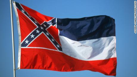 The Mississippi flag was adopted by the state legislature in 1894.