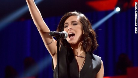 LAS VEGAS, NV - SEPTEMBER 18:  Singer Christina Grimmie performs onstage at the 2015 iHeartRadio Music Festival at MGM Grand Garden Arena on September 18, 2015 in Las Vegas, Nevada.