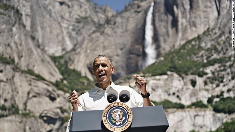 The Obamas tour Yosemite National Park