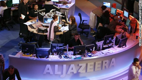 Qatar-based Al-Jazeera's Doha headquarters.