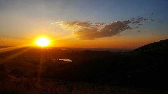 The sun bids Loveland, Colorado, good morning in this solstice sunrise on June 20.