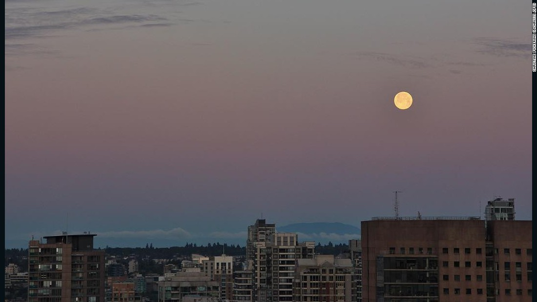 A full moon rarely coincides with the summer solstice -- the last one was in 1967. Vancouver, British Columbia, enjoys the moon on June 20.