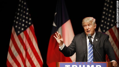 Republican presidential candidate Donald Trump speaks on June 16, 2016 at Gilley's in Dallas, Texas. Trump arrived in Texas on Thursday with plans to hold rallies and fundraisers.