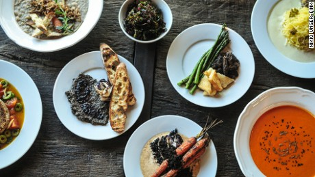 Portland's Harvest at the Bindery serves colorful, seasonal dishes that are 100% plant-based.
